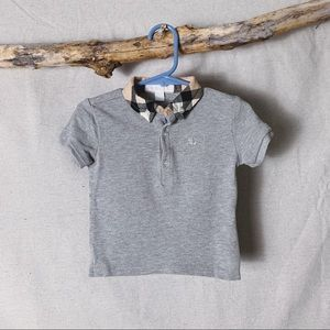 BURBERRY CHILDREN 18 month Baby Check Collar Polo